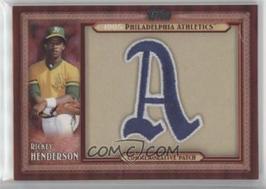 2011 Topps - Blaster Box Throwback Manufactured Patch #TLMP-RH - Rickey Henderson