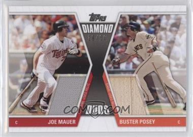2011 Topps - Diamond Duos - Dual Relics #DDR-2 - Buster Posey, Joe Mauer /50