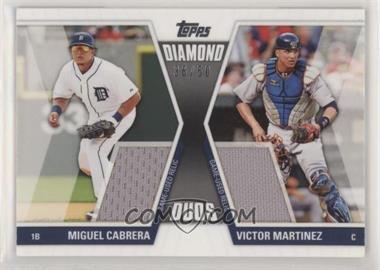 2011 Topps - Diamond Duos Series 1 - Dual Memorabilia #DDR-3 - Miguel Cabrera, Victor Martinez /50 [EXtoNM]
