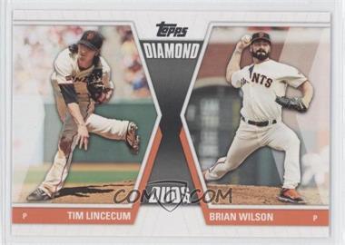 2011 Topps - Diamond Duos Series 2 #DD-15 - Tim Lincecum, Brian Wilson