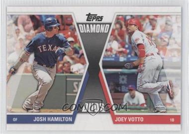 2011 Topps - Diamond Duos Series 2 #DD-16 - Joey Votto, Josh Hamilton