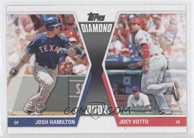 2011 Topps - Diamond Duos Series 2 #DD-16 - Joey Votto, Josh Hamilton