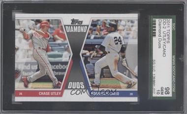 2011 Topps - Diamond Duos Series 2 #DD-2 - Chase Utley, Robinson Cano [SGC 98]