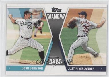 2011 Topps - Diamond Duos Series 2 #DD-27 - Josh Johnson, Justin Verlander