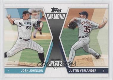 2011 Topps - Diamond Duos Series 2 #DD-27 - Josh Johnson, Justin Verlander