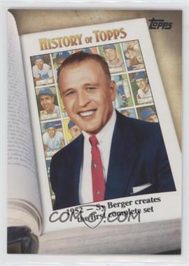 2011 Topps - History of Topps #HOT-3 - 1952 - Sy Berger creates the first complete set