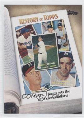 2011 Topps - History of Topps #HOT-4 - 1957 - Topps sets the card size standard