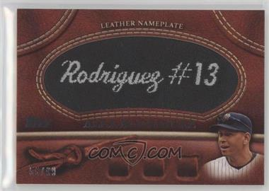 2011 Topps - Manufactured Glove Leather Nameplate - Black #MGL-AR - Alex Rodriguez /99
