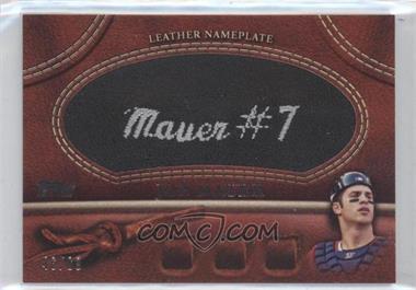 2011 Topps - Manufactured Glove Leather Nameplate - Black #MGL-JM.1 - Joe Mauer /99