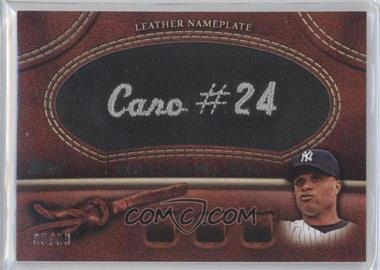 2011 Topps - Manufactured Glove Leather Nameplate - Black #MGL-RC.2 - Robinson Cano /99