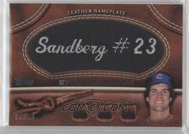 2011 Topps - Manufactured Glove Leather Nameplate - Black #MGL-RS - Ryne Sandberg /99