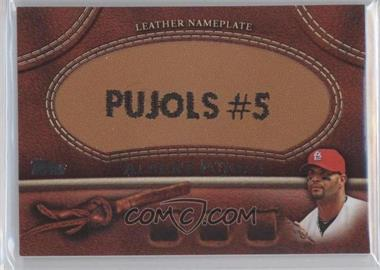 2011 Topps - Manufactured Glove Leather Nameplate #MGL-AP - Albert Pujols