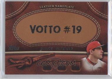 2011 Topps - Manufactured Glove Leather Nameplate #MGL-JV - Joey Votto