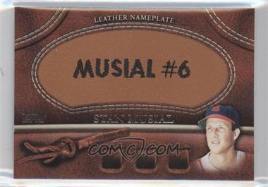 2011 Topps - Manufactured Glove Leather Nameplate #MGL-SM - Stan Musial
