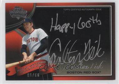 2011 Topps - Multi-Product Insert 60th Anniversary Autographs - [Autographed] #60A-CF - Carlton Fisk /60