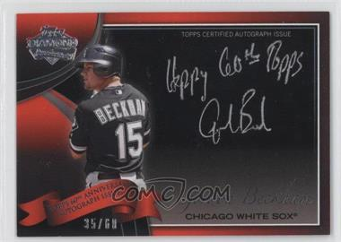 2011 Topps - Multi-Product Insert 60th Anniversary Autographs - [Autographed] #60A-GB - Gordon Beckham /60