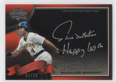2011 Topps - Multi-Product Insert 60th Anniversary Autographs - [Autographed] #60A-PM - Paul Molitor /60