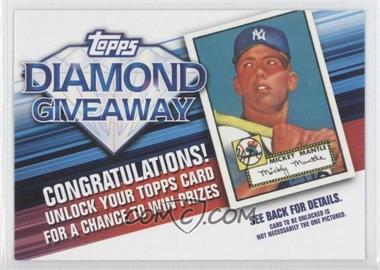 2011 Topps - Redemptions Diamond Giveaway Code Cards #TDG-1 - Mickey Mantle