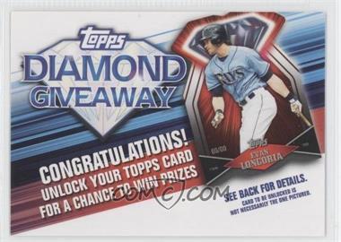 2011 Topps - Redemptions Diamond Giveaway Code Cards #TDG-18 - Evan Longoria
