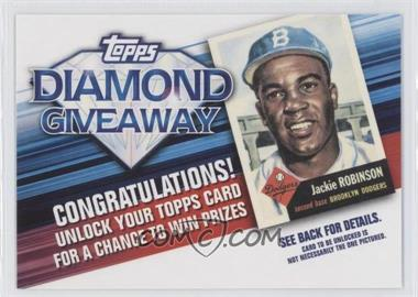 2011 Topps - Redemptions Diamond Giveaway Code Cards #TDG-2 - Jackie Robinson
