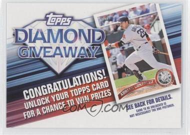 2011 Topps - Redemptions Diamond Giveaway Code Cards #TDG-24 - Adrian Gonzalez