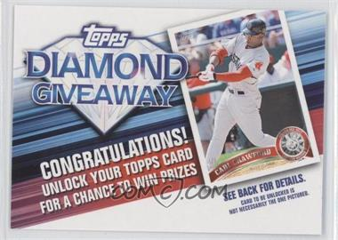 2011 Topps - Redemptions Diamond Giveaway Code Cards #TDG-26 - Carl Crawford