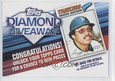 2011 Topps - Redemptions Diamond Giveaway Code Cards #TDG-3 - Reggie Jackson