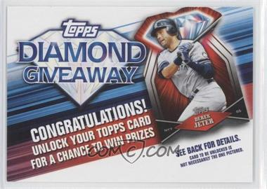 2011 Topps - Redemptions Diamond Giveaway Code Cards #TDG-7 - Derek Jeter