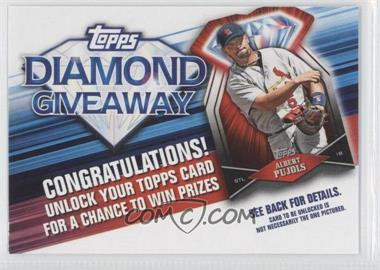 2011 Topps - Redemptions Diamond Giveaway Code Cards #TDG-8 - Albert Pujols