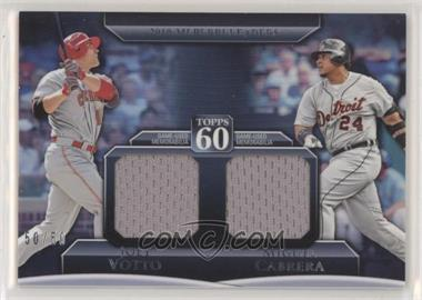 2011 Topps - Topps 60 Dual Relics #T60DR-2 - Joey Votto, Miguel Cabrera /50