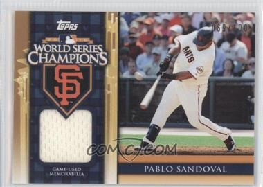 2011 Topps - World Series Champions - Relics #WCR-3 - Pablo Sandoval /100