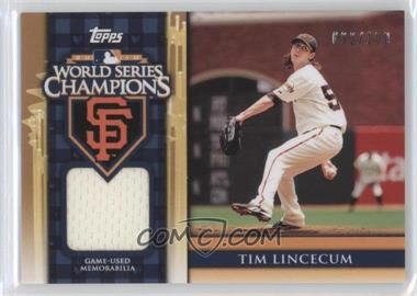 2011 Topps - World Series Champions - Relics #WCR-6 - Tim Lincecum /100