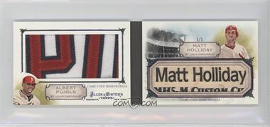 2011 Topps Allen & Ginter's - Book Cards #AGBC 5 - Matt Holliday, Albert Pujols /1