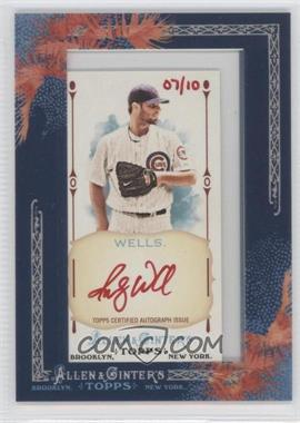 2011 Topps Allen & Ginter's - Framed Mini Autographs - Red Ink #AGA-RW - Randy Wells /10