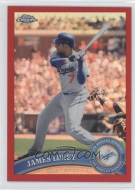 2011 Topps Chrome - [Base] - Red Refractor #47 - James Loney /25