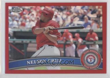 2011 Topps Chrome - [Base] - Red Refractor #74 - Nelson Cruz /25