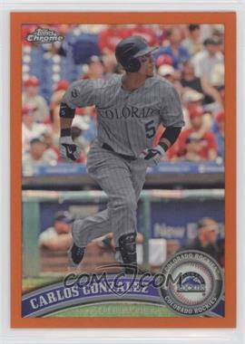 2011 Topps Chrome - [Base] - Retail Orange Refractor #110 - Carlos Gonzalez