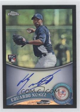 2011 Topps Chrome - [Base] - Rookie Autographs Black Refractor [Autographed] #198 - Eduardo Nunez /100
