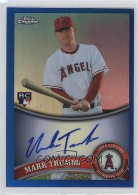 2011 Topps Chrome - [Base] - Rookie Autographs Blue Refractor [Autographed] #178 - Mark Trumbo /199