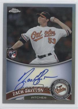 2011 Topps Chrome - [Base] - Rookie Autographs Refractor [Autographed] #216 - Zach Britton /499
