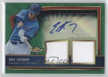 2011 Topps Finest - [Base] - Green Refractor Rookie Autographed Dual Relics [Autographed] #63 - Eric Hosmer /149
