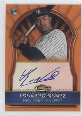2011 Topps Finest - [Base] - Orange Refractor Rookie Autographs [Autographed] #105 - Eduardo Nunez /99