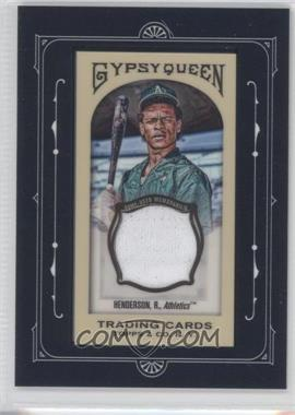 2011 Topps Gypsy Queen - Framed Mini Relics #FMRC-RHE - Rickey Henderson
