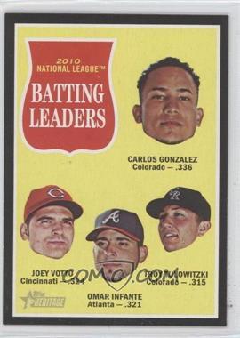 2011 Topps Heritage - [Base] - Retail Black Border #C12 - Joey Votto, Omar Infante, Troy Tulowitzki, Carlos Gonzalez