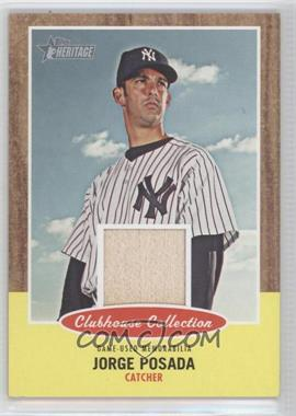 2011 Topps Heritage - Clubhouse Collection Relic #CCR-JP - Jorge Posada