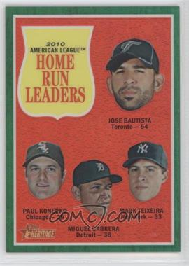 2011 Topps Heritage Chrome - [Base] - Green Border Refractor #C13 - Paul Konerko, Jose Bautista, Miguel Cabrera, Mark Teixeira