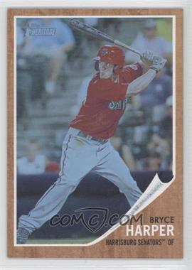 2011 Topps Heritage Minor League Edition - [Base] - Blue Tint #16 - Bryce Harper /620
