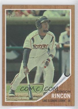2011 Topps Heritage Minor League Edition - [Base] - Green Tint #195 - Edinson Rincon /620
