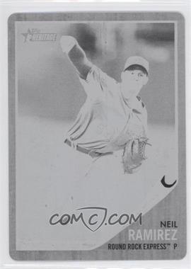 2011 Topps Heritage Minor League Edition - [Base] - Printing Plate Black #181 - Neil Ramirez /1