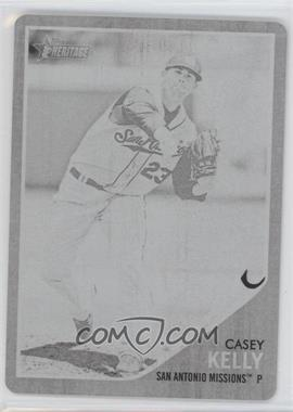 2011 Topps Heritage Minor League Edition - [Base] - Printing Plate Black #22 - Casey Kelly /1